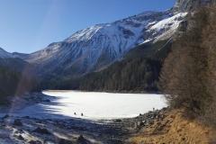 Eisbaden am Obernberger See